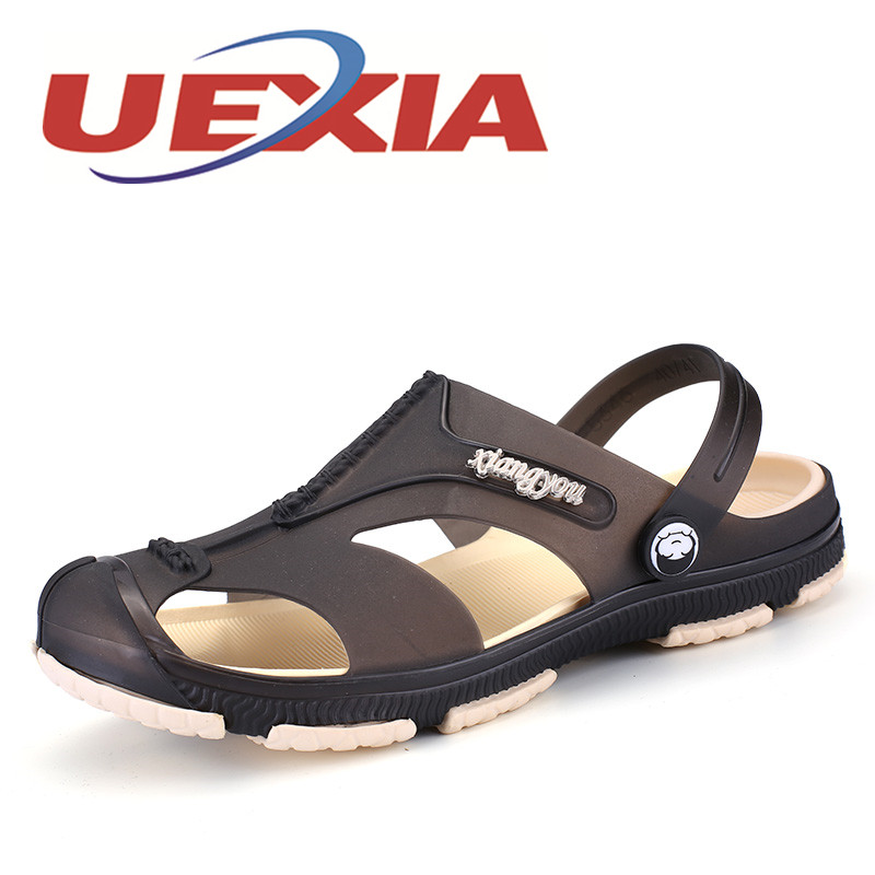 Men Fashion Sandals Summer Men s Slippers Leather Shoes Beach Casual Breathable Home Slippers Men Shoes