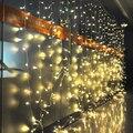 6 m x 3 m Cascada Led Hadas luz de la Secuencia Del Banquete de Boda de Vacaciones de Navidad Al Aire Libre Jardín 600 LED Luces de la Cortina LA decoración de LA UE