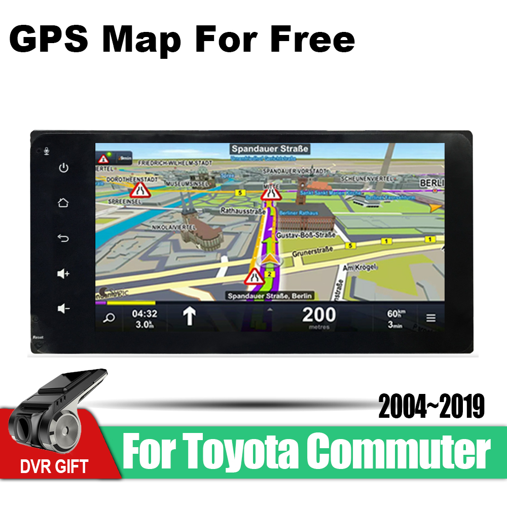 ZaiXi Android Car GPS Multimedia Player For Toyota Commuter 2004 2019 car Navigation radio Video Audio Car Player WiFi Bluetooth in Car Multimedia Player from Automobiles Motorcycles