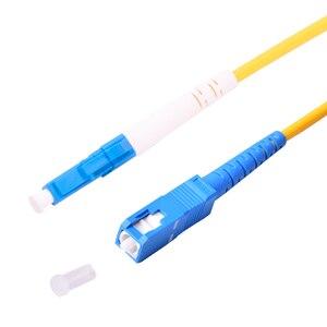 Image 4 - 10 stücke fibra optica ftth patchkabel LC/UPC SC/UPC single mode Simplex PVC Kabel 3,0mm 3 meter faser patchkabel jumper