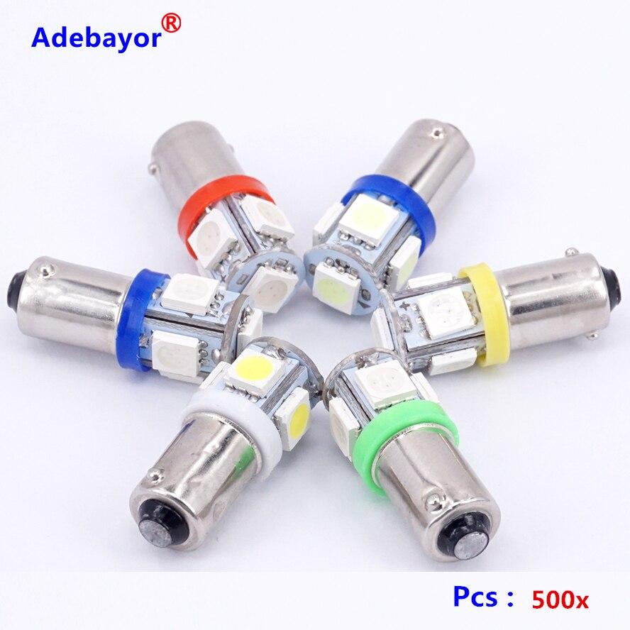 500X T11 BA9S 5 SMD 5050 LED Light bulbs 5SMD T4W 1445 Q65B H6W 182 53