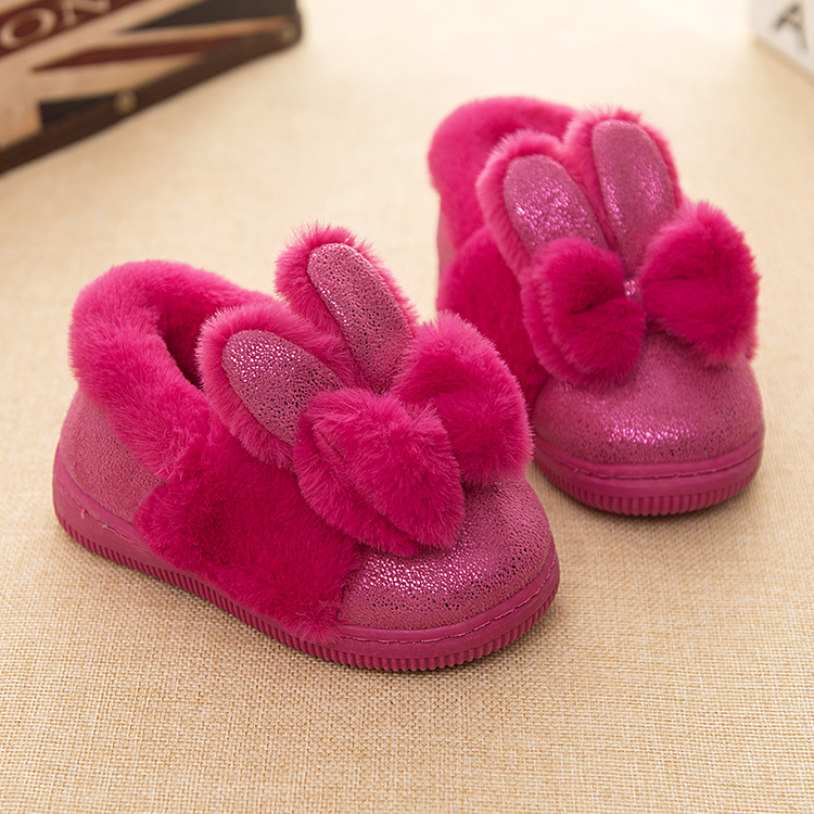 ФОТО Winter Children Shoes Boys Girls Slippers Cute Cartoon Sheep Kids Home Shoes Soft Comfortable Warm Winter Cotton Home Slippers
