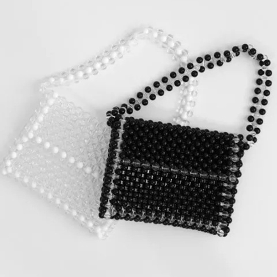 Fashion Pearls Beaded Bags For Women Handmade Handbag Luxury Women Shoulder Bag 2018 Pearls Small Flap Top-handle Girls Bags New hot sale popular women scrub leather design cross body bag girls shoulder bag female small flap handbag top handle bags