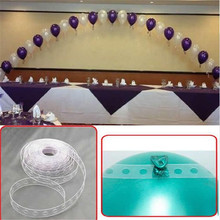 Popular wedding arch buy cheap wedding arch lots from china wedding 5m wedding party helium balloon decoration transparent pvc rubber chain balloon chain arch decoration supplies junglespirit Image collections