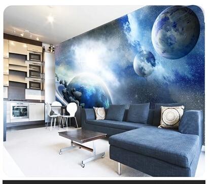 Planet Space universe wallpaper personalized 3D mural wallpaper restaurant  corridor living room TV backdrop bedroom wallpaper