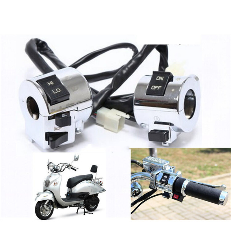 Motorbike Accessories Aluminum Motorcycle Switch Electrical Parts Handlebar Motorbike Horn Turn Signal Headlight Control Button