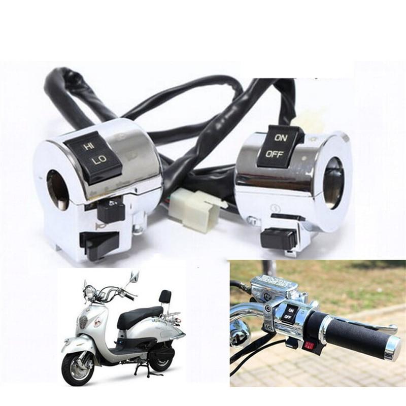 Motorrad Zubehör Aluminium Motorrad Schalter Elektrische Teile Lenker Motorrad Horn Blinker Scheinwerfer Control Taste