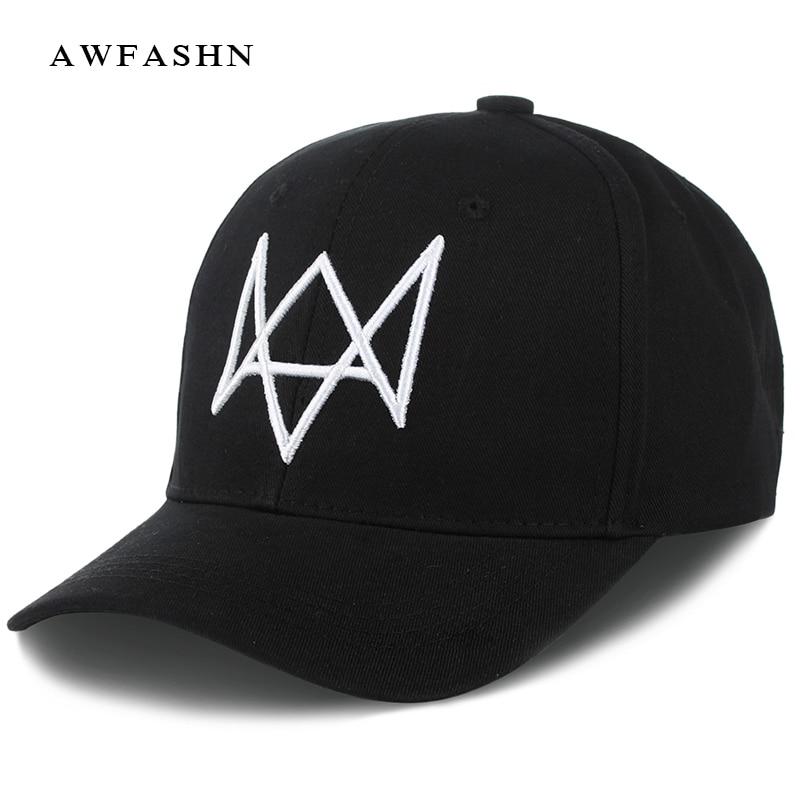 ba0d06b5a28 Watchdog embroidery baseball cap hip hop hat man woman sport black white  comfort and high quality bone summer snapback