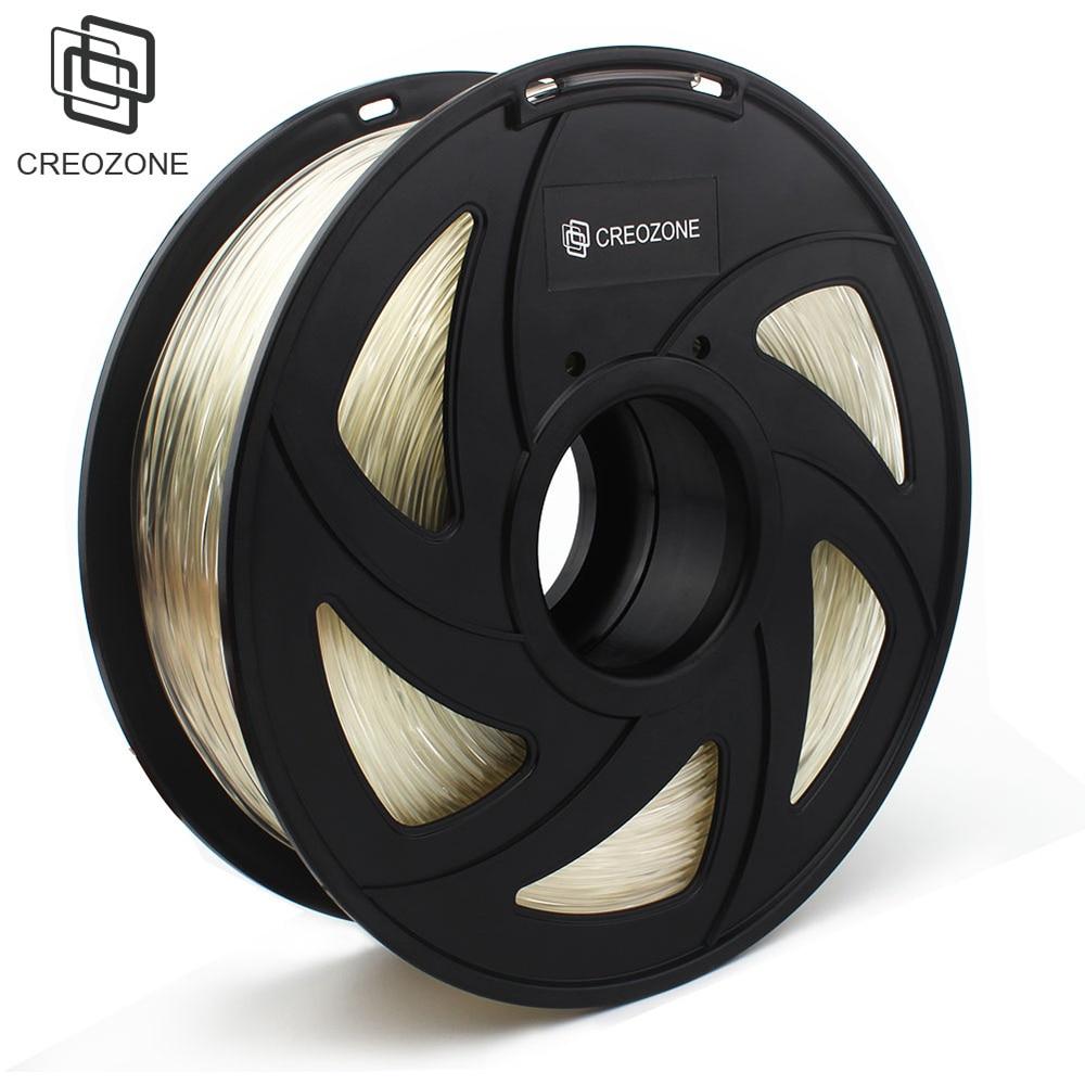 CREOZONE Top Quality Brand 3D Printer Filament 1.75 1KG PLA ABS Wood TPU PetG PP PC Metal Plastic Filament Materials For RepRap