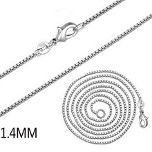 Fashion new jewelry 1.4mm box chain thin chain female clavicle chain necklace female models hot sale(China)