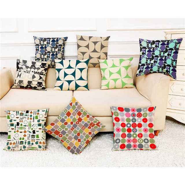 Colorful Pattern Pillowcases Cover Super soft fabric Home Cushion Simple Geometric Throw Bedding Pillow Case Pillow Covers
