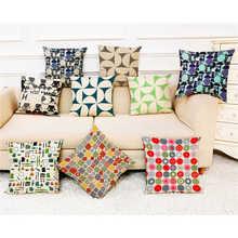 Renkli desen yastık kılıfı kapak süper yumuşak kumaş ev yastık basit geometrik atmak yatak yastık kılıfı yastık kapakları