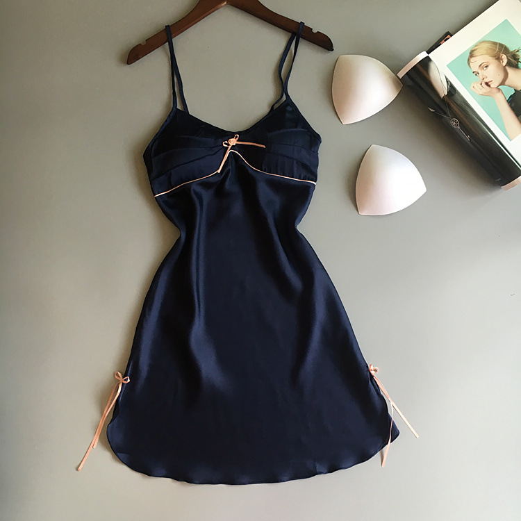 Women Satin   Nightgown   Summer Sleepwear Casual Night Dress Plus size Sleeveless Lounge Sexy Nightdress Soft   Sleepshirt