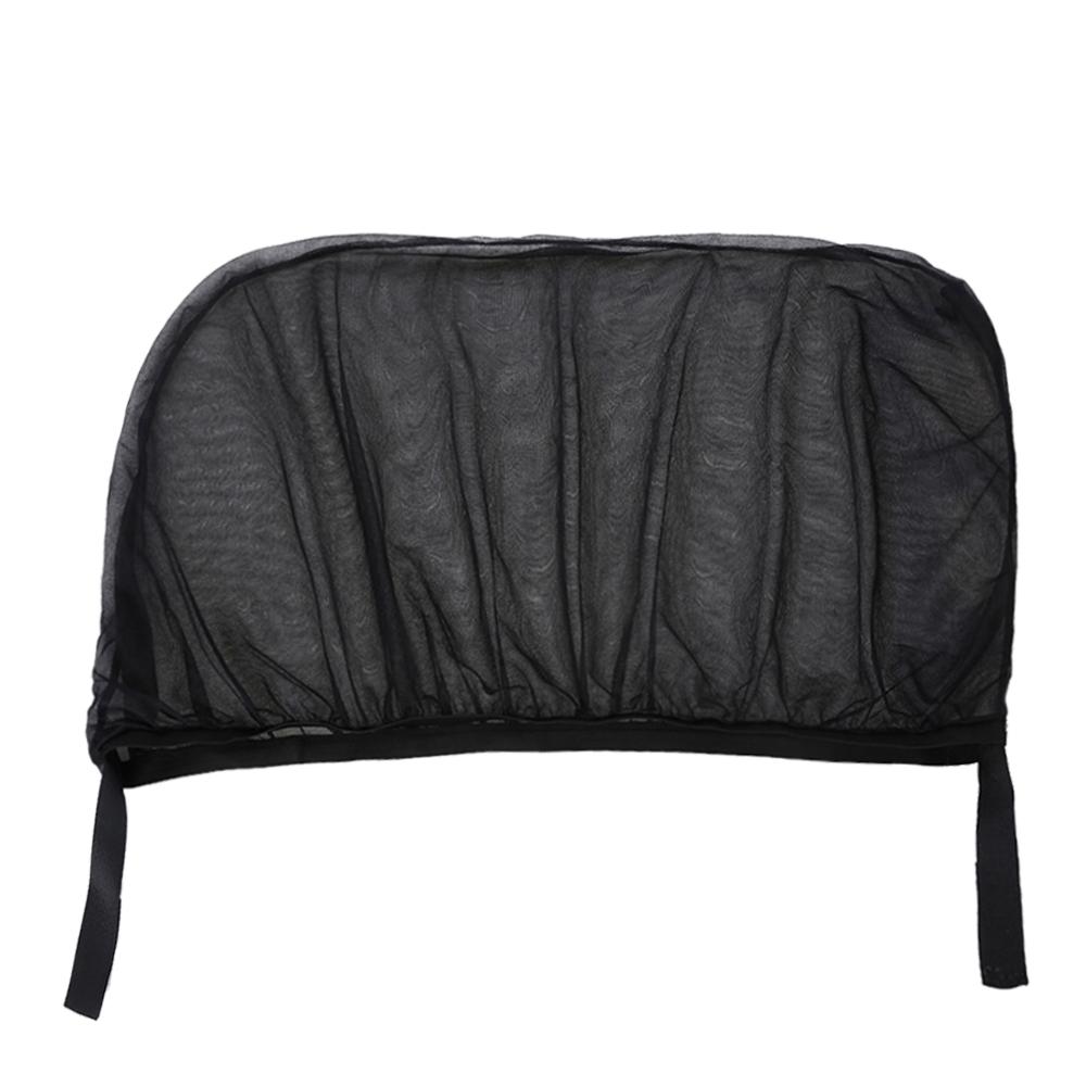 2Pcs Car Sun Visor Rear Side Window Sun Shade Mesh Fabric Sun Visor Shade Cover Shield UV Protector Black Auto Sunshade Curtain 5