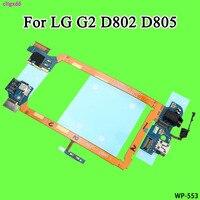 Cltgxdd lg g2 d802  g2 d805 usb 충전 포트 독 + 마이크 헤드폰 잭 커넥터 교체 부품 용 플랫 케이블