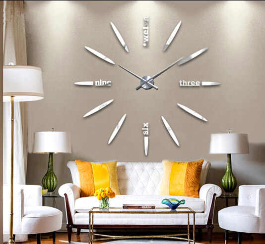 Detail Feedback Questions About 2835cm Large Clock Hands 3d Wall