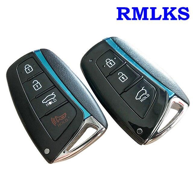 3 4 Buttons High Quality Smart Key Case For Hyundai Genesis 2013-2015 Santa  Fe Equus Azera Remote Control Key Shell Smart Fob