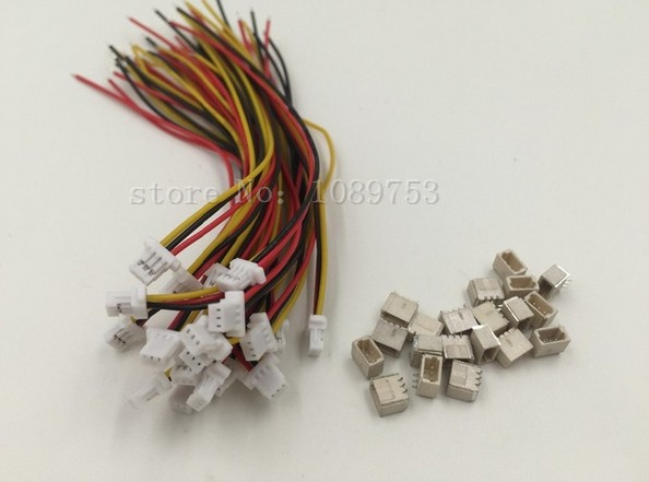 20 sets Mini. Micro JST 1.0mm 3-Pin Connector with Wire 10cm/15cm/20cm mini micro jst 2 0mm t 1 6 pin connector w wire x 10 sets 6pin 2 0mm