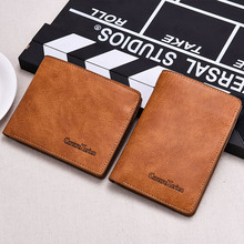 Fashion Short Ultra Thin Men Wallets Multifunction Photo Card Holder High Quality Leather Man Money Bag Purse