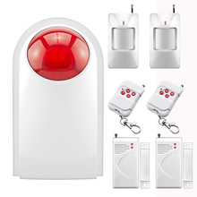 Chuangkesafe  433MHZ Home Alarm System Waterproof Wireless Outdoor Siren Sensor Kit for Home Security Protection P747