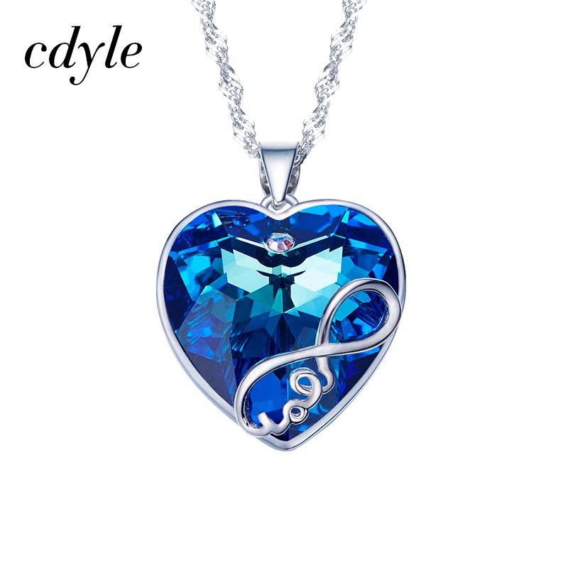 Cdyle Crystals from Swarovski Pendants Women Necklaces Heart Shaped Fashion  Jewelry Blue Purple Bijous Luxury Elegant Sexy New-in Pendant Necklaces  from ... 255885646abd