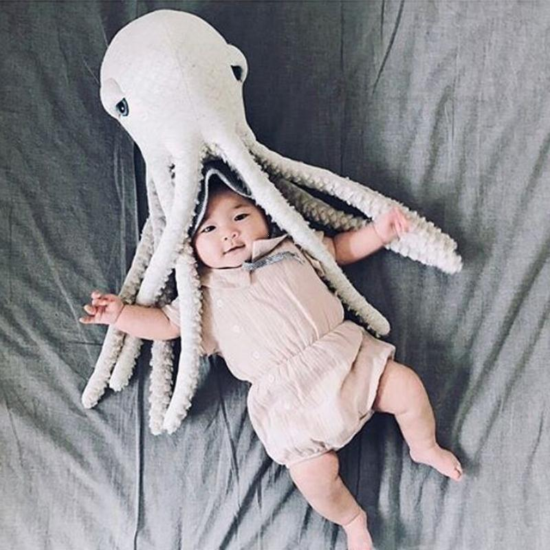 Soft Cartoon Room Decor Octopus Cushion Infant Sleeping Doll Kids Baby Octopus Decorative Pillow Mini Octopu Plush Doll Toy XV3 mysterious cartoon meow star cute cat cushion simulation decorative pillow