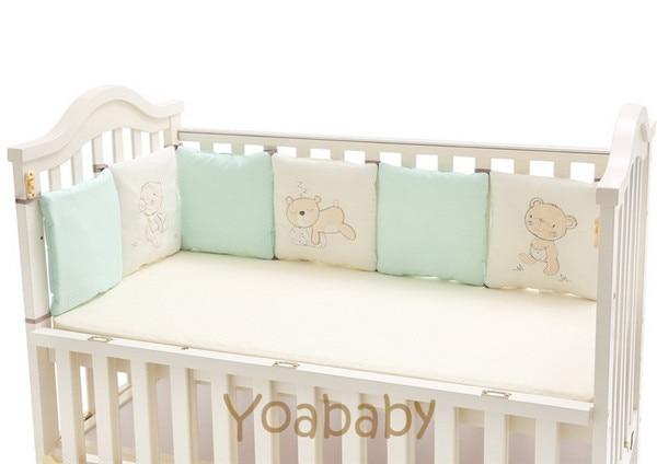 6-14Pc/Lot Infant Crib Bumper Bed Protector Baby Kids Cotton Cot Nursery bedding three baby bear Bear Monkey Pilliow Cushion bear baby