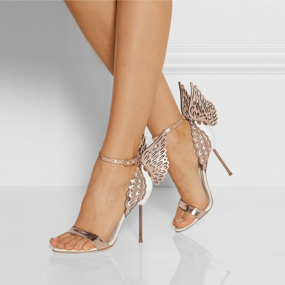 Aliexpress.com : Buy Gorgeous Winged High Heels Women Shoes Rose ...