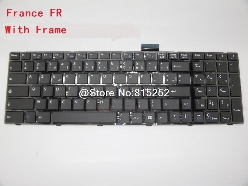 Laptop Keyboard For MSI GP70 2PE-011CA Canada 2PE-025UK 2PE-026UK 2PE-233XTR Turkey 2PE-006US English 2PE-027XFR 2PE-077TW laptop keyboard for acer silver without frame canada ca v 121646ck2 ef aezqsk00110