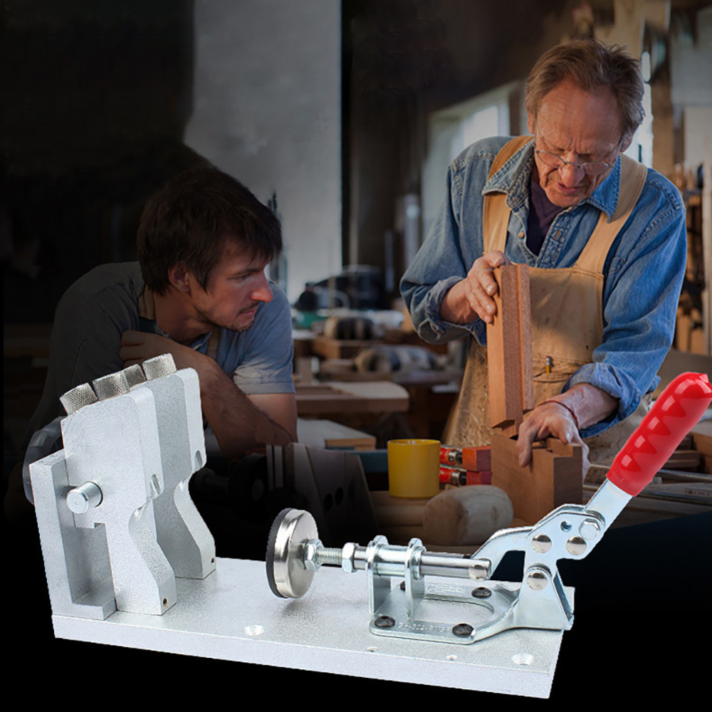 Professionnel en alliage d'aluminium Oblique trou perforateur localisateur luminaire à bois outil rond bois Pin manuel perforateur