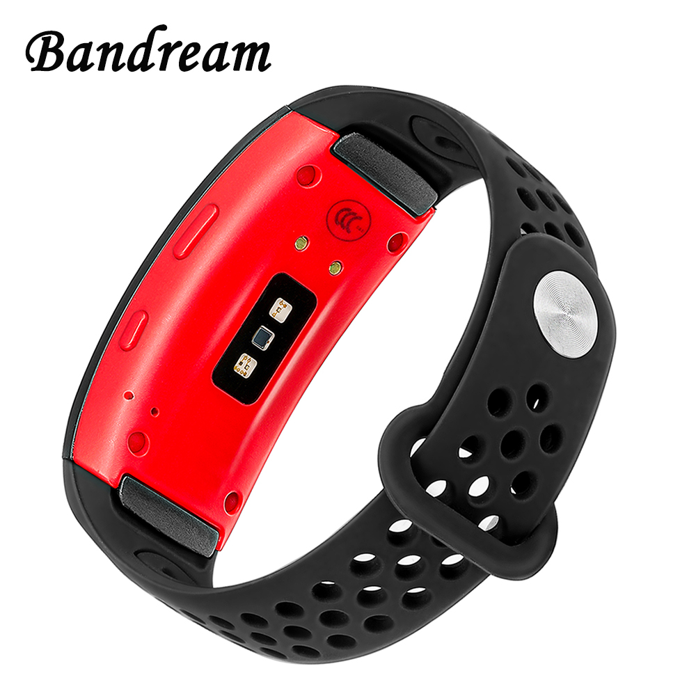 Double Color Silicone Rubber Watchband for Samsung Gear Fit 2 R360 / Fit2 Pro R365 Watch Band Sports Strap Wrist Belt Bracelet stainless steel link bracelet wrist watchband strap for samsung gear fit 2 sm r360 fit2 pro sm r365 fitness tracker watch band