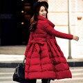 Alta Qualidade Mulheres Para Baixo Parka 2016 Nova Moda Inverno Quente casacos Espessamento Solto Fino 90% de Pato Branco Para Baixo Casaco Feminino jaqueta