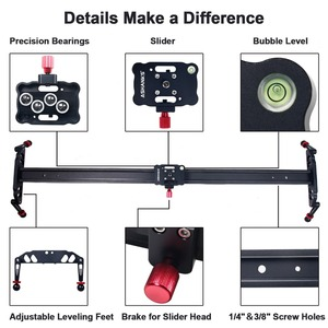 Image 3 - Ashanks 100 cm/39.37 카메라 슬라이더 알루미늄 합금 댐핑 슬라이더 트랙 dslr 또는 캠코더 용 비디오 안정기 레일 트랙 슬라이더