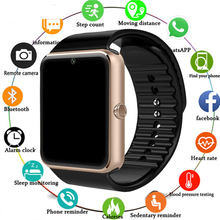 GT08 Smart Watch For Apple Watch Men Women Android Wristwatch Smart Electronics Smartwatch With Camera SIM TF Card PK Y1