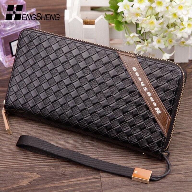 Wallet purse carteira masculina men wallets carteras leather purses brand designer mens card holder long clutch wristlet walet