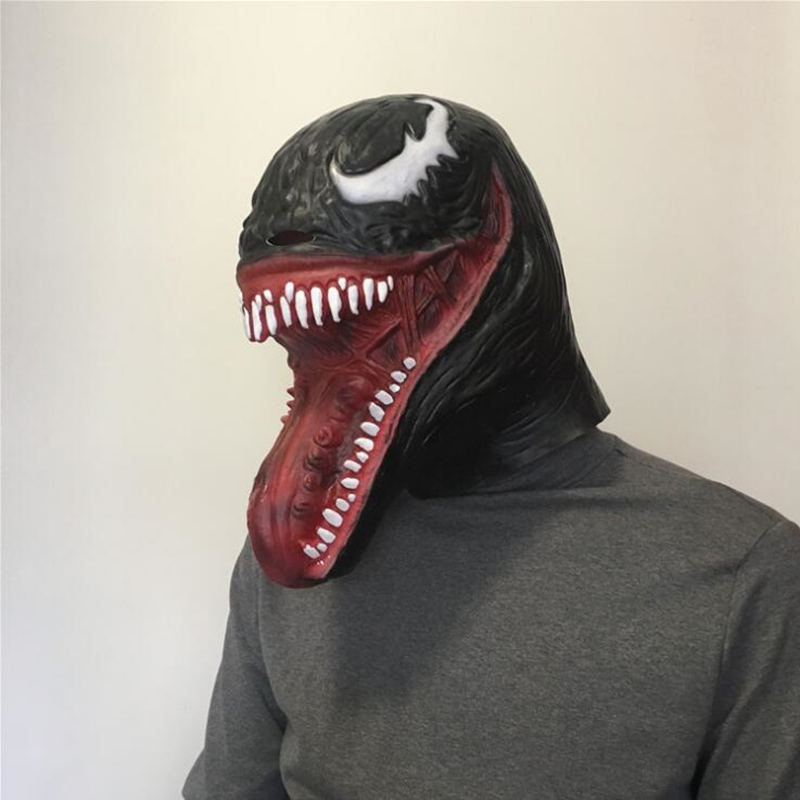 Venom Edward Brock Spider-Man Adult Latex Mask Cosplay Costumes Halloween Full Face Masks Helmet