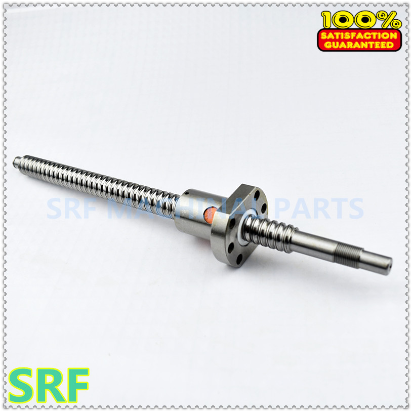 SFU1605 1000mm Tornillo De Bola Extremo mecanizado Tornillo De Bola Tuerca de bola de único para CNC GB