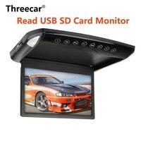 10.1 Flip Down Monitor 1080P HD DVD Player Ultra Thin Car DVD Player 2 Way Video Input Car Roof Mounted TFT LCD Monitor Display