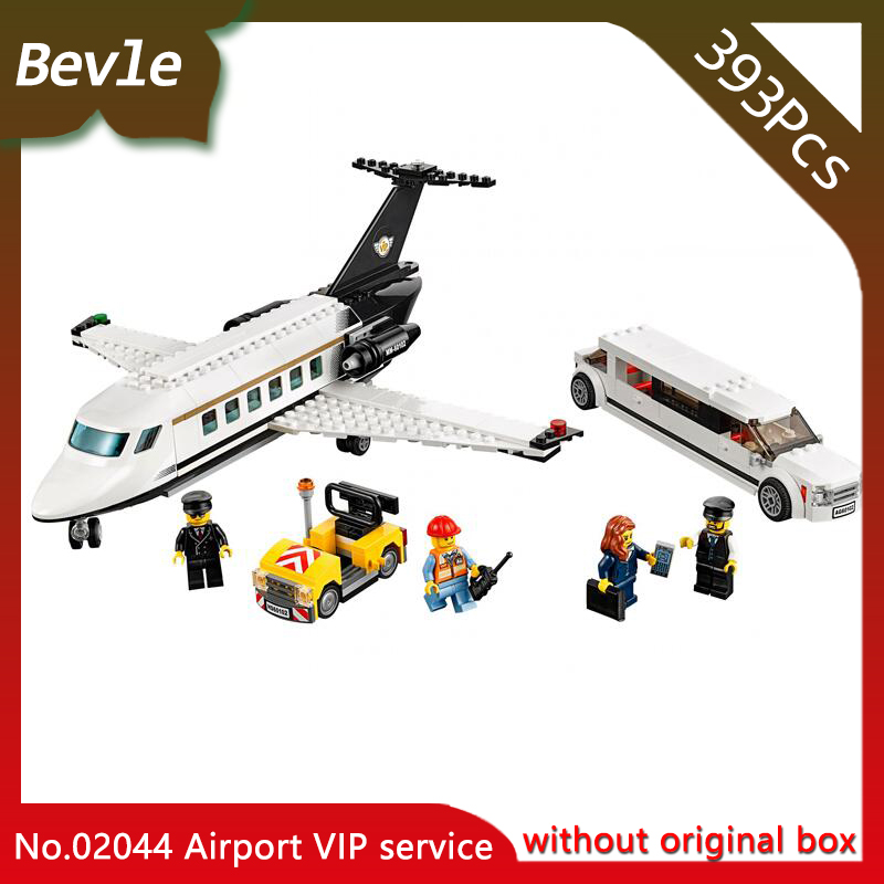 Lepin 02044 396pcs CITY Series Airport VIP service Model Building Bricks Blocks Educational Toys for Children gifts 60102 1712 city swat series military fighter policeman building bricks compatible lepin city toys for children