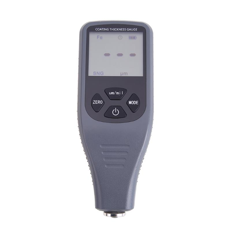 RZ240 Digital LCD Display Paint Coating Backlit Thickness Gauge feeler Tester for Car Instrument Iron Aluminum Base Metal new digital paint coating thickness