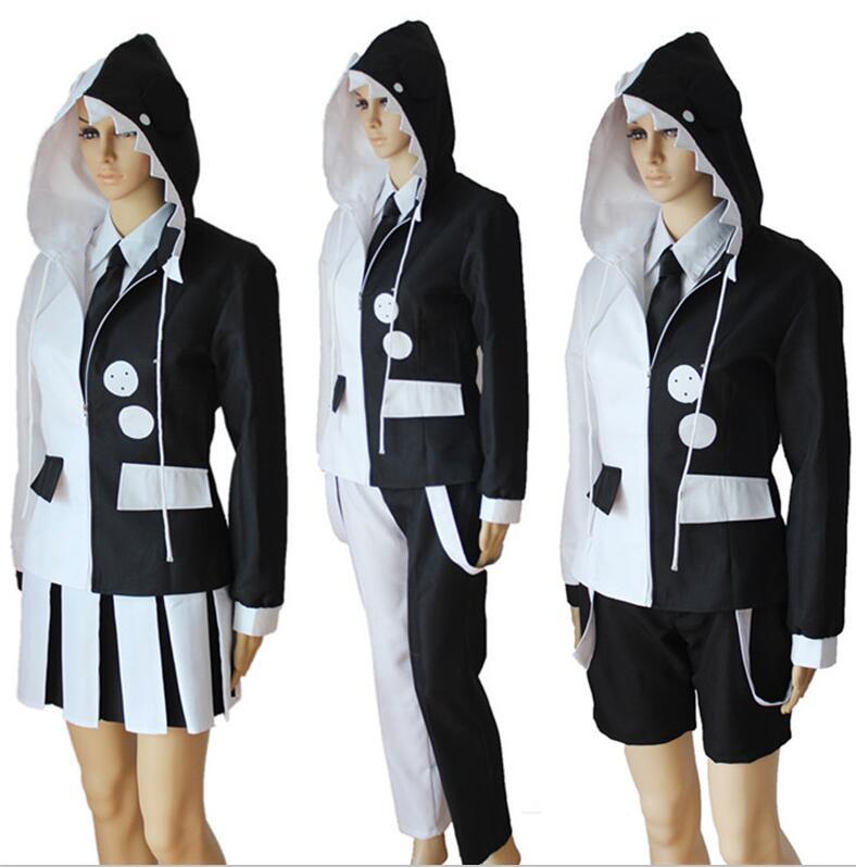 Danganronpa Monokuma Cosplay Costume Dangan Ronpa Trigger Happy Havoc Full Set Men Women Uniform Halloween Costumes