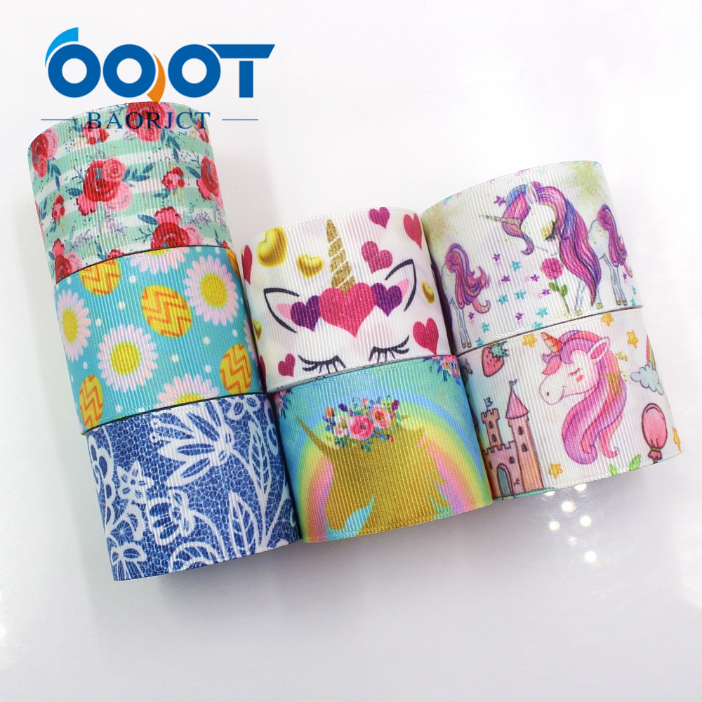 Apparel Sewing & Fabric Ooot Baorjct I-19116-359,38mm 10yards Flower Cartoon Ribbons Thermal Transfer Printed Grosgrain,diy Gift Wrapping Materials Ribbons