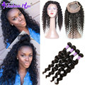 10A 360 Lace Frontal With Bundle Loose Wave Brazilian Virgin Hair with Closure 360 Lace Virgin Hair Human Hair 360 Lace Frontal