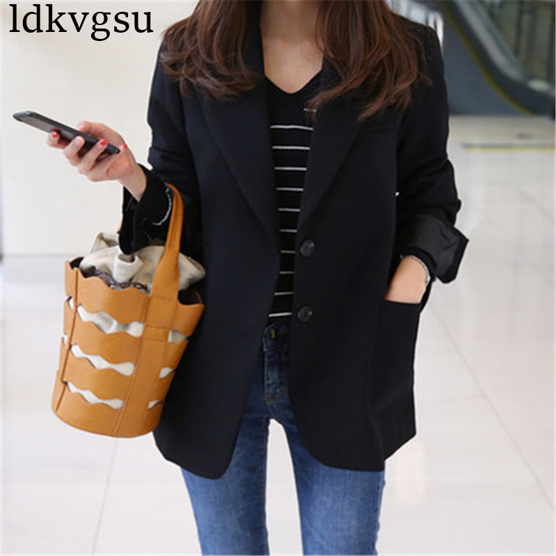 Spring Blazer Women 2020 Plus Size Suit Elegant Female Jackets Women Business Jaqueta Feminina Office Suits Black Outerwear A724