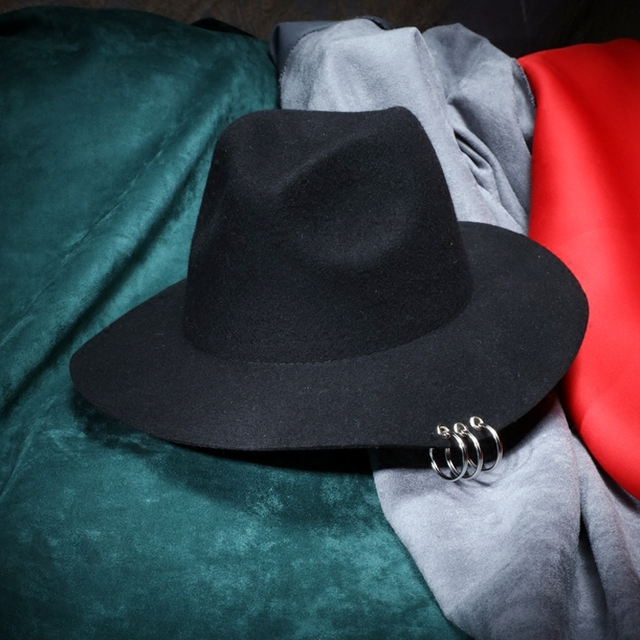 jewish autmn hat with rings punk fashion