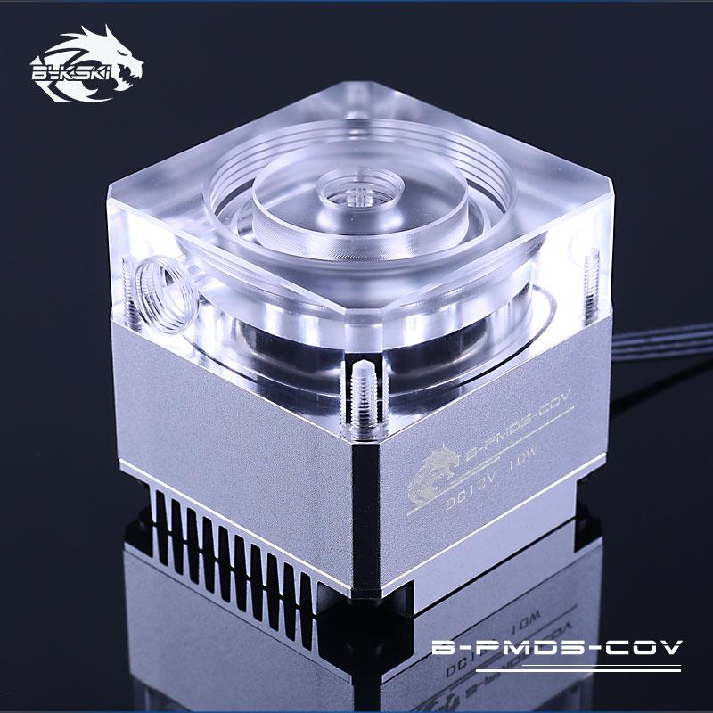 Bykski B-D5COV-XT Pump Top and Heatsink for D5 MCP655 Red