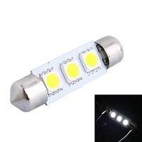 39mm 0.6W 50LM 6000K 3x5050 SMD White LED for Car Reading/License Plate/Door Lamp (DC12V, 10Pcs)