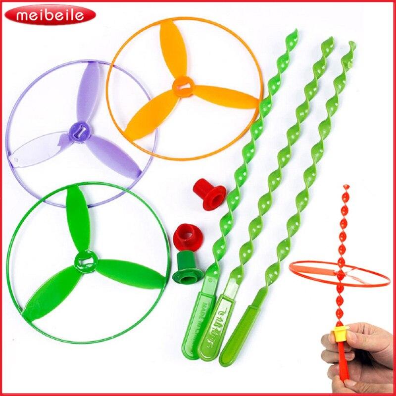 Constructief Nieuwe 5 Stks Kinderen Speelgoed Vliegende Schotel Disc Twisty Pull String Diverse Helikopters Fairy Boomerang Speelgoed Gift Goedkope Prijs Hoge Veiligheid