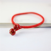 Original New Chinese Style Lucky Bracelets Women Handmade Red String Ceramic Bead bracelets Bangles Lover Jewelry Wedding Gift