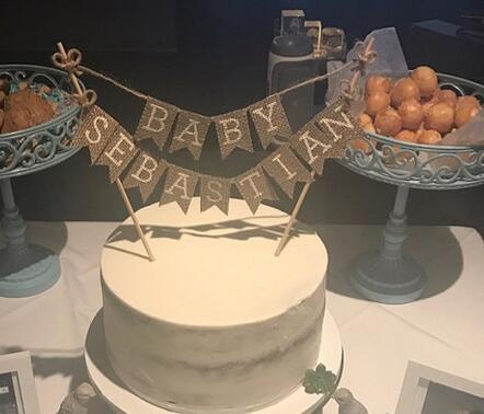 Custom Rustic Boy Baby Shower Its A Boy Birthday Burlap Cake